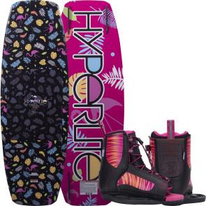 Hyperlite Kids Murray #2022 w/Jinx Boat Wakeboard Package - Pink
